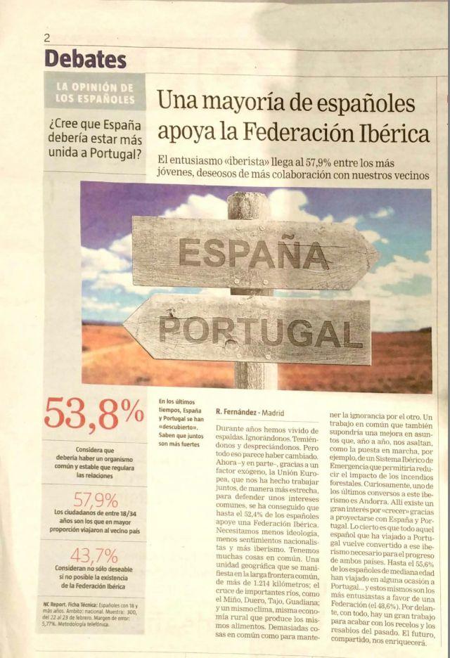 España Portugal iberismo la razón